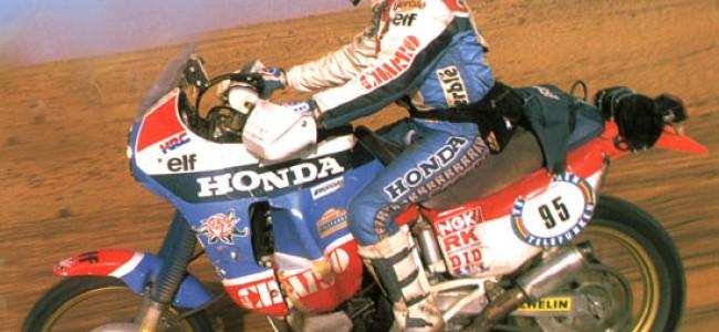 Paris-Dakar 1987: Het duel tussen Cyril Neveu en Hubert Auriol.
