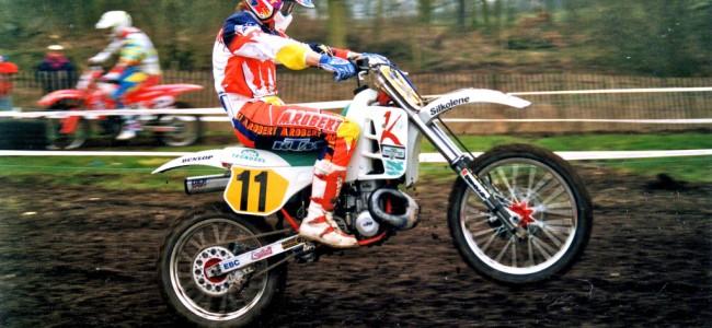 Kurt Nicoll's KTM 500cc voor de Vets MXdN Farleigh Castle in beeld!