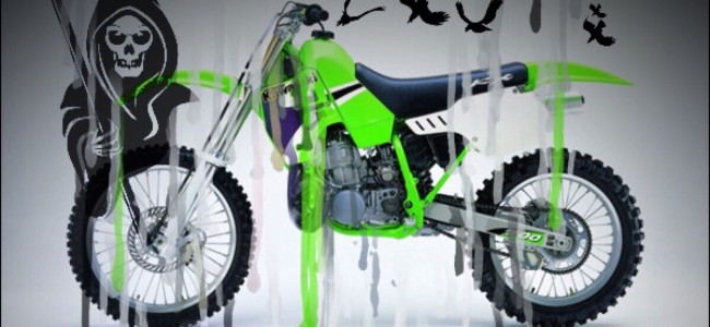 Nog één ding voor Magere Hein je komt halen: Rij een Kawasaki KX500!
