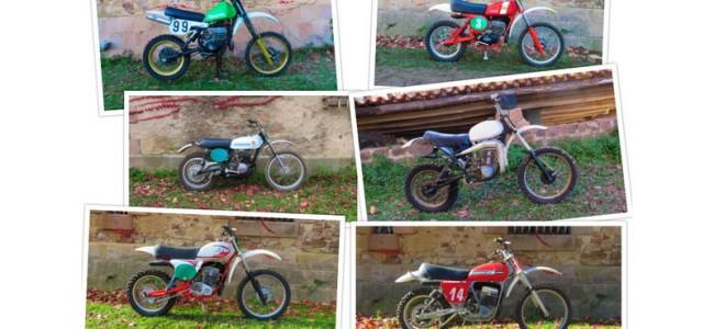 Veiling van 107 crossmotoren op Stafford Classic Bike Show!