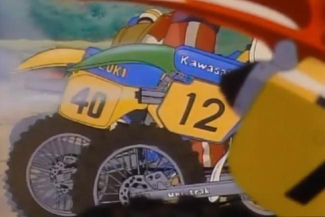 VIDEO: Vintage motocross animatiefilm uit Japan!