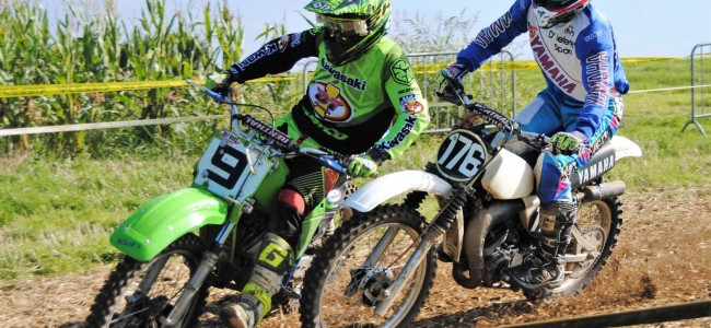 Oldtimercross Wambeek : Maxim Houben gagne une bataille difficile en 125cc
