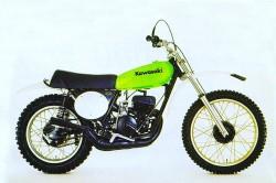 De eerste Kawasaki in de motorcross